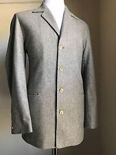 New Napoli Hand Made Men's Sport Coat Jacket, Blazer Gray 38 US ( 48 Eur )