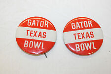Lot of 2 - 1974 Texas Longhorns Football - Gator Bowl Buttons
