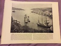 Antique Book Print - Fowey OR Deal - UK - c. 1895