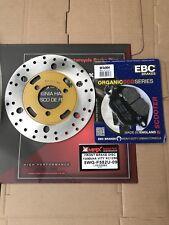 YAMAHA VITY XC125E 2008 - 2014 BRAND FRONT BRAKE DISC AND EBC PAD BRD201 SFA464