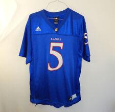 University of Kansas Jayhawks  5 NCAA Football Jersey ADIDAS YOUTH XL 18 20 9737a0e5b
