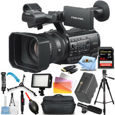Sony Hxr-Nx200 Hxr-Nx200P 4K Professional Pal Camcorder - 64Gb Led Light Bundle