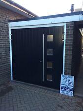 Composite Designer Insulated Side Hinged Garage Door Steel Opening 40mm Thick