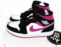 Nike Air Jordan 1 Retro Mid W Fuchsia Pink Cactus Flower UK 3 4 5 6 7 8 9 US New