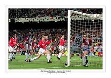 OLE GUNNAR SOLSKJAER MANCHESTER UNITED PRINT PHOTO  1999 CHAMPIONS LEAGUE UTD A4