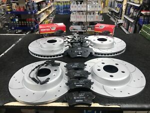 AUDI A6 2.0 TFSi TDi 190 ultra AVANT BRAKE DISC DRILLED GROOVED FRONT REAR PADS