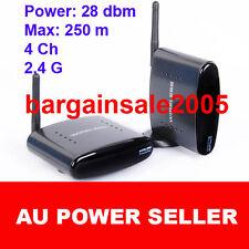 250m 28DBM 2.4 GHz wireless AV sender receiver transmitter IR remote  4ch