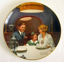 """The Birthday Wish""~Knowles Ltd Ed~Norman Rockwell Collector Plate 1984~Mint"