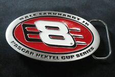 DALE EARNHARDT JR #8 BUDWEISER NASCAR BELT BUCKLE PEWTER