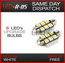 SUPER WHITE 6 SMD LED BULBS - NUMBER PLATE LIGHT 12V C5W - BMW E53 E70 X5