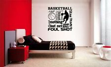BASKETBALL COLLAGE SUBWAY LETTERING DECAL WALL VINYL DECOR STICKER ROOM SPORTS