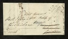 WALES 1819 OFFICIAL CROWN PAID REDIRECTION HOLYHEAD MILEAGE BISHOP BANGOR LONDON