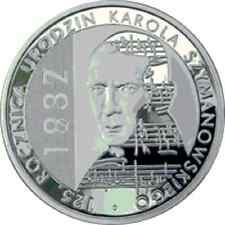 Poland / Polen - 10zl 125th Anniversary of Karol Szymanowski's Birth 1882-1937