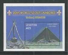 LESOTHO # 1317 MNH 20TH WORLD SCOUT JAMBOREE, THAILAND 2003 Souvenir Sheet