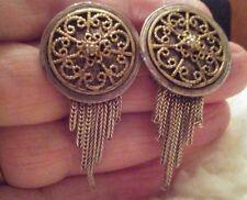 Beautiful Vintage Anatoli  7 Chain Earrings