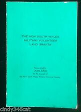 New South Wales Military Volunteer Land Grants Land Order System 1869 1879