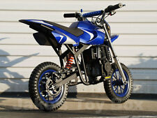 Gas Powered Kids Mini Dirt Bike 40cc Pit Bike - Blue & Silver