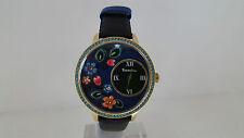 Orologio Braccialini Fiori Flower Solo Tempo Pelle Nero Watch BRD603SR1NN