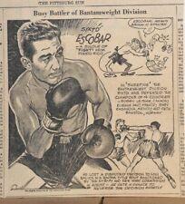 1935 newspaper panel Busy Battler of Bantamweight Division - boxer Sixto Escobar