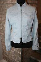 CAbi Womens Light Blue Lightweight Zip Front Jacket SZ S