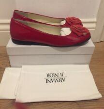 ARMANI JUNIOR Red Ballet Shoes Size UK 7/EU 40