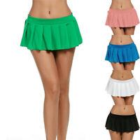 Sexy Women Schoolgirl Pleated Mini Skirt Cocktail Party Dress Skater Short Skirt