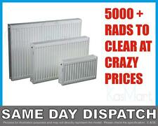 New Compact Convector White Panel Radiator - Single - Type 11 - 600 x 500mm