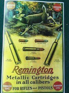 Remington Metallic Cartridges Advertising Poster for Rifles & Pistols