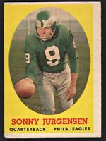 1958 Topps Football #90 Sonny Jurgensen RC  Philadelphia  Eagles