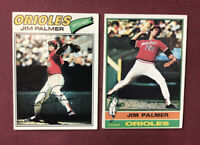 1977 Topps #600 Jim Palmer + 1976! Lot of 2
