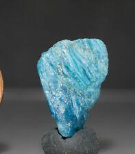 Blue Apatite Rough Unheated Natural Specimen Neon Blue Apatite Gemstone Rough