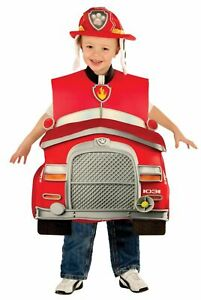 Rubies Paw Patrol Marshall Deluxe Fire Truck Child Boys Halloween Costume 610837