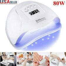 80W SUN X5Plus Nail Lamp UV LED Light Professional Nail Dryer Gel Curing Machine