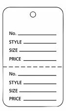Large Unstrung White Perforated Coupon Price Tags - Case of 1,000