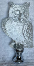 Vintage Clear Glass Owl Lamp Finial