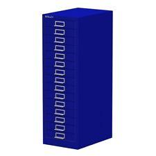 BLUE 15 MULTI DRAWER 'BISLEY' FILING CABINET - BRAND NEW 860H x 279W x 380D mm