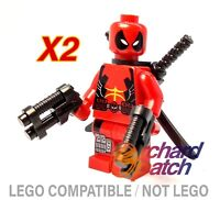 LEGO DEADPOOL DEWAYNE WADE MARVEL SUPER HEROES MINIFIGURE CUSTOM 1 6866