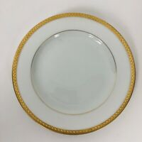 Vintage Pickard Etched China Gold Trim Salad Bread Butter White Plate 6""