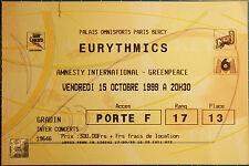 EURYTHMICS ticket bercy paris 1999