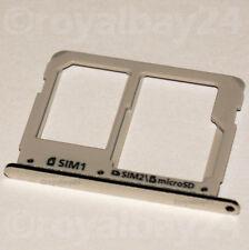 Samsung GALAXY a3 SIM SLOT SLITTA SUPPORTO TRAY a310 CARD HOLDER microSD ARGENTO