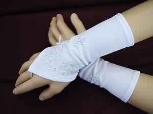 Kommunionhandschuhe Handschuhe Mädchen Stulpen zum Kommunionkleid