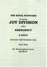 JOY DIVISION Concert Window Poster - Bradford 1978 - Indie - reprint
