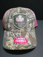 Realtree Ladies Quality Camo Pink Mesh Back Hat Cap With Pony Tail Hole