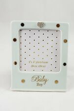 Mad Dots Photo Frame Baby Boy Baby Or Christening Gift