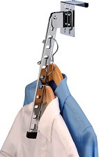Over The Door Clothes Hanger Rack Organizer Valet Holder Metal Space Saver Fold