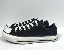 Converse All Star Mens 5 Women's 7  Black/purple Canvas Lace Up Sneakers