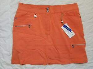 1 NWT XDS BY DAILY SPORTS WOMEN'S SKORT, SIZE: 12, COLOR: ORANGE (J192)