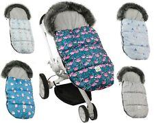 Schlafsack für Kinderwagen Baby Füßsack  wasserdicht 110 cm WINTER DE LUXE