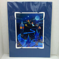 Disney Parks D23 Expo WonderGround Peter Pan's Flight 14x18 in Print Joey Chou