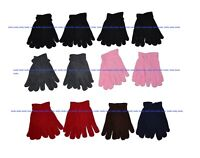 Kids Boys Girls Warm Polar Fleece Winter Gloves 5 - 8 years, 12 Pairs Pack NY